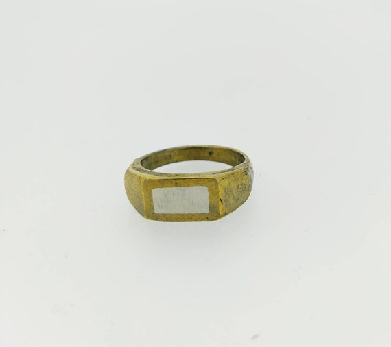 Signet ring/silver and bronze/art Jewelry/last wax tecnique/Hand made Jewelry/woman and man rings/Jewelry addict/cool ring/Roman ring/antiqu