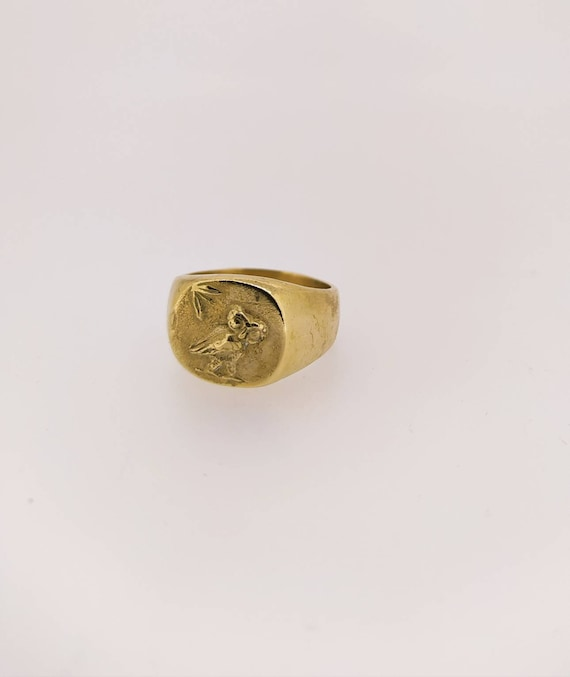 Ancient ring/Signet ring/greek/Wisdom simbolo/last wax tecnique/Hand made jewelry/Jewelry history/Bronze ring/Silver ring