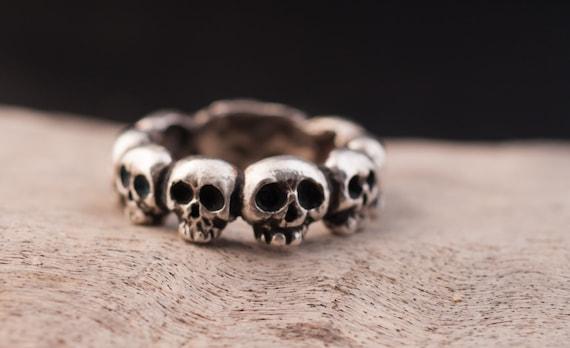Skulls ring // sterling silver 925 // hand made //faith ring // ancient shape// ancient ring // biker ring // man ring // woman ring