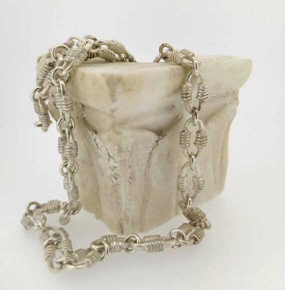 Silver chain/woman chain/ancient chain/roman chain/bizantine chain/woman necklace/ancient Jewelry/Jewelry addict/last wax tecnique/Hand made