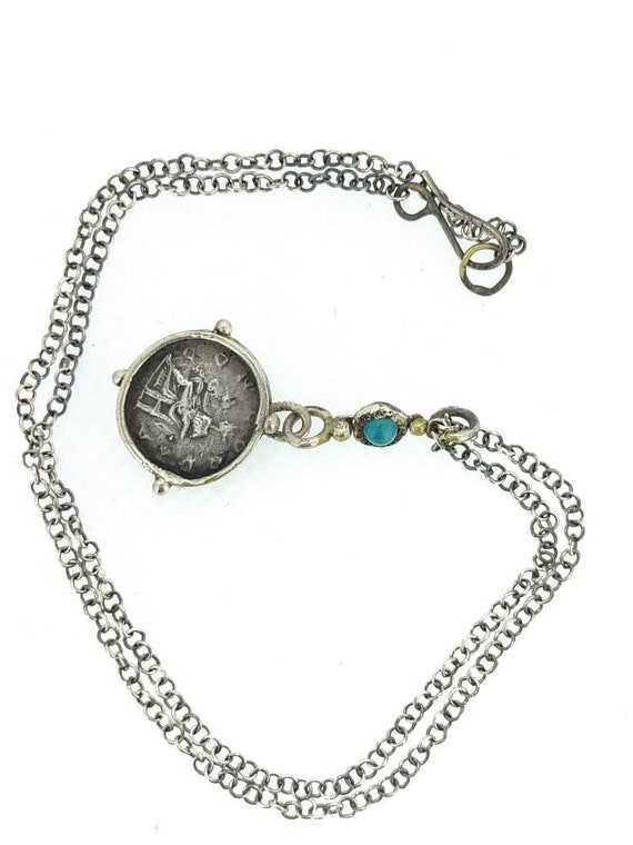 necklace with roman pendant/ ancient Roman pendant/antique jewelry/Roman Coin pendant/silver 925/Hand made/jewelry history/woman necklace