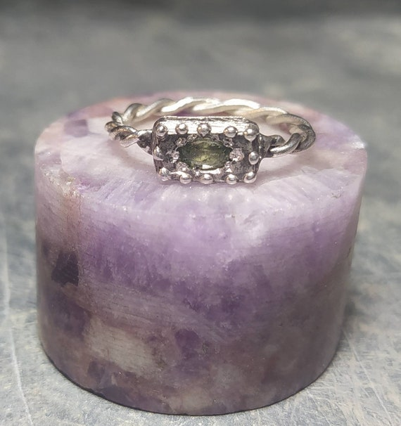 Ancient ring/silver ring/greek and Roman ring/last wax tecnique/Hand made jewelry/Jewelry history/green sapphire