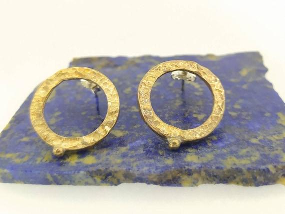 bronze earrings/cool earrings/sexy Jewelry/antique jewelry/woman earring/Hand made/worked in wax/geometrical earrings