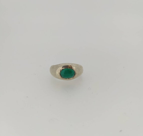 Ancient ring/Roman ring/ silver 925/ green agate/Hand made Jewelry/antique jewelry/Jewelry history/last wax tecnique