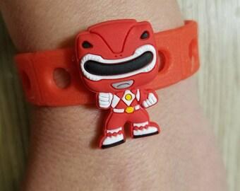 a9e7072a7673a 10 Power Ranger Silicone Bracelets Party Favors