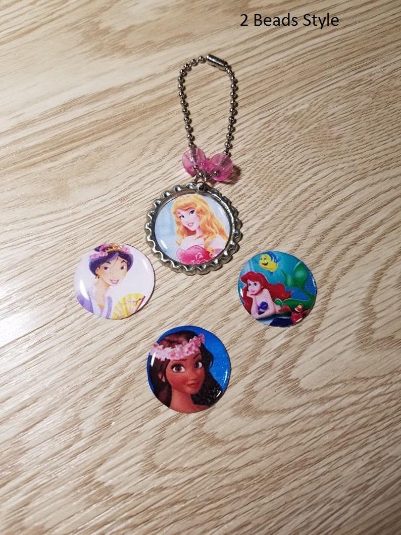 10  Pink Princess  Zipper Pull Favors. Sleeping Beauty image 0