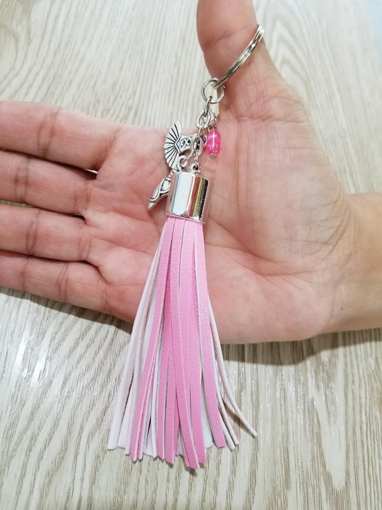 ballet inspired tassel key chain - zipper pull