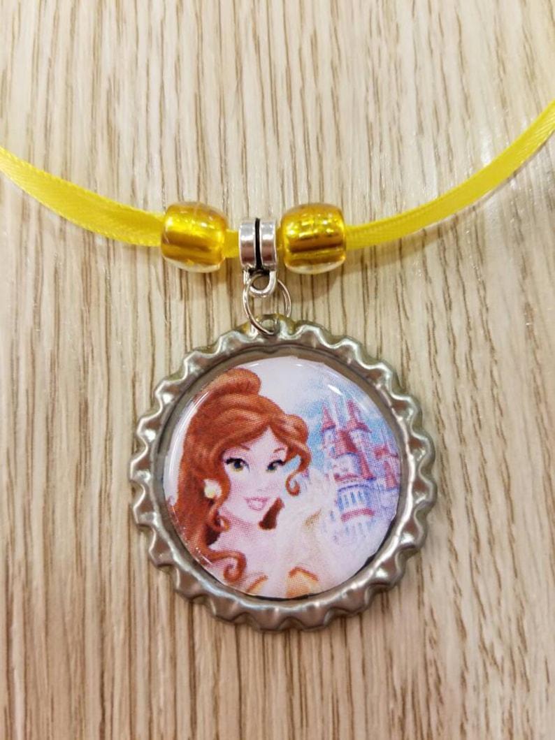 10 Princess Belle Necklaces Party Favors.