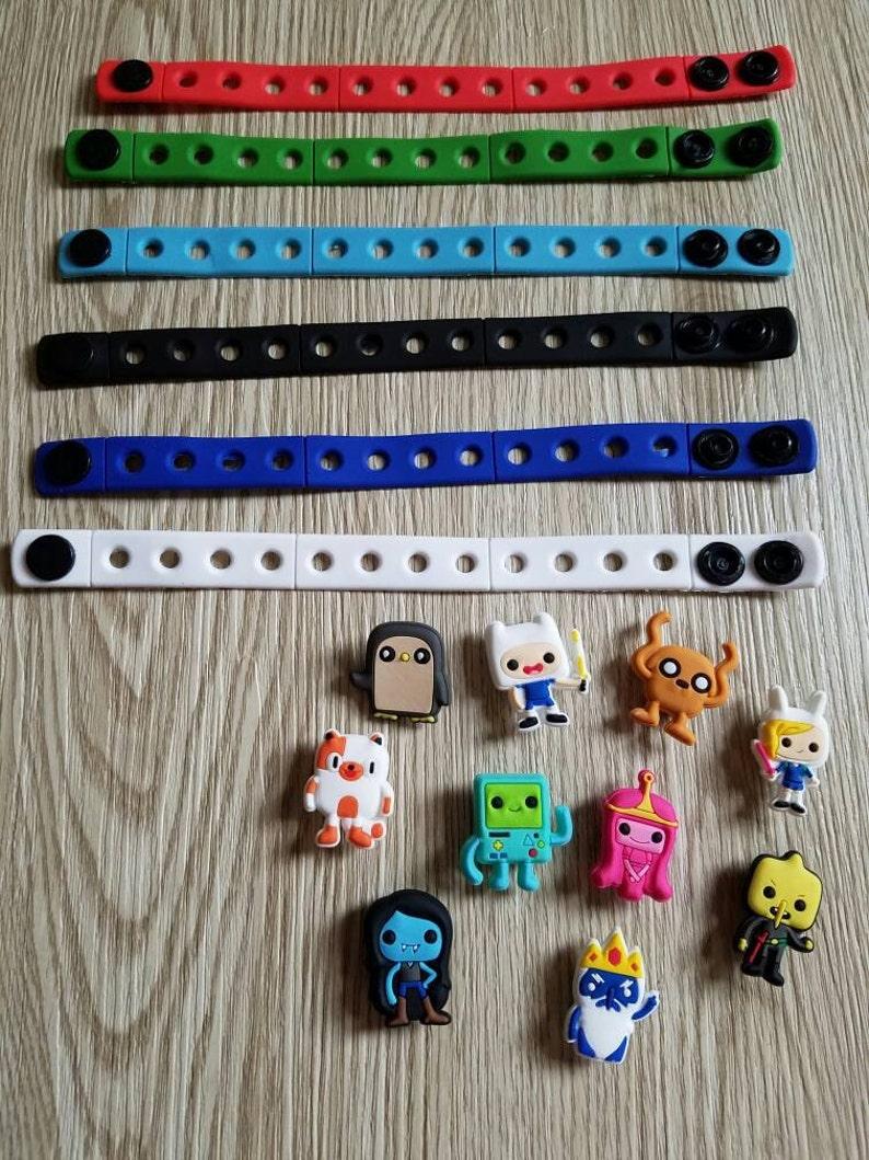 10  Adventure Time Silicone Bracelets Party Favors