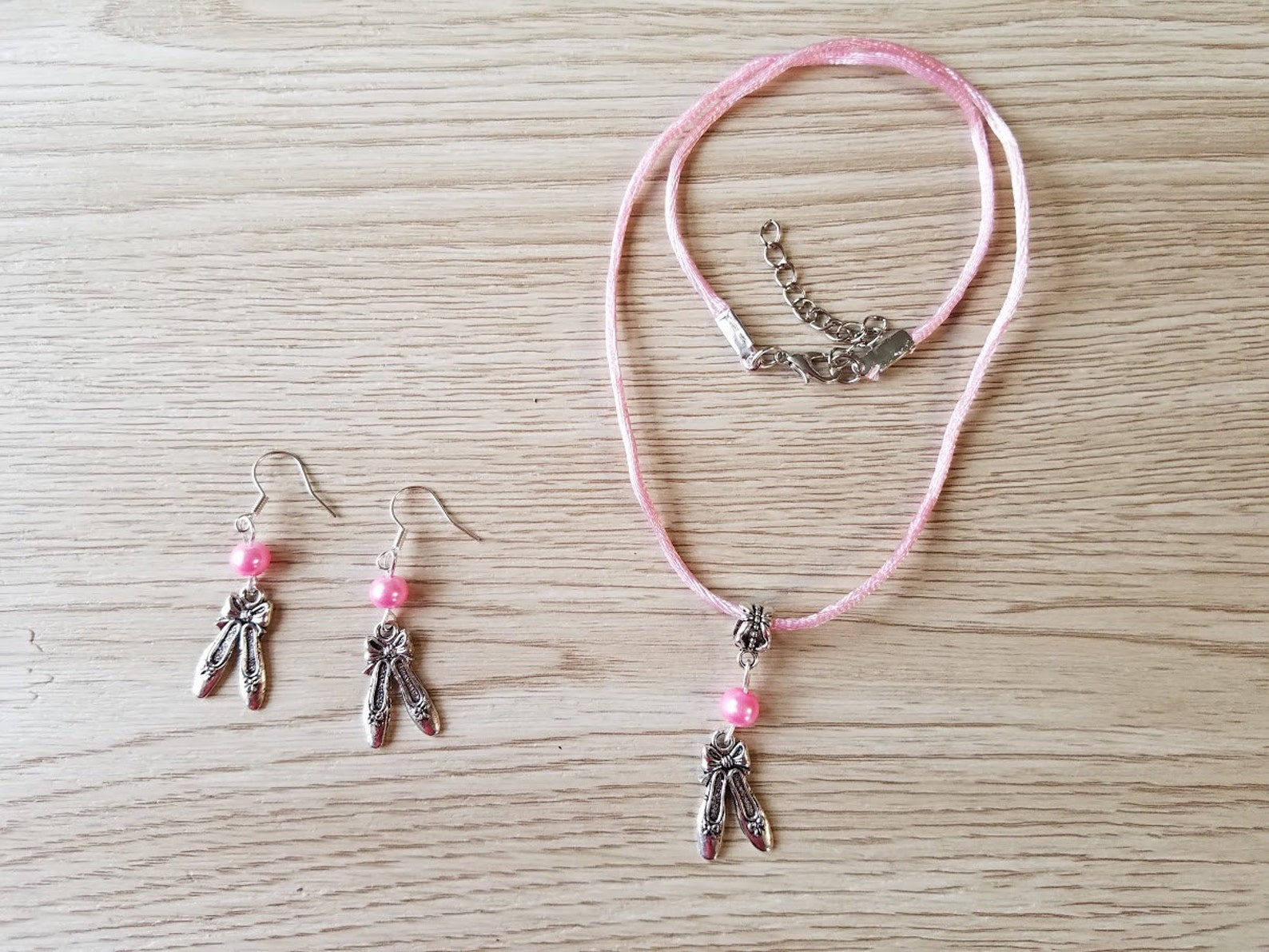 ballet jewelry. necklace and earrings set