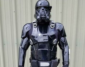 Death Trooper Costume Armor KIT Star Wars Rogue One Black ABS