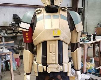 R1 Shoretrooper squad leader style costume armor kit Black ABS