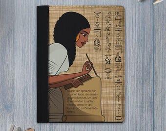 words of wisdom padfolio /  wisdom portfolio / words of wisdom notebook / wisdom notebook / ancient egypt scribe / Ptahhotep / personalized