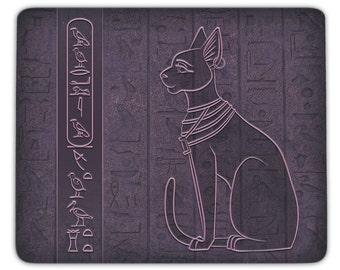 Mousepad Katze Bastet - personalisierbar mit Name in Hieroglyphen