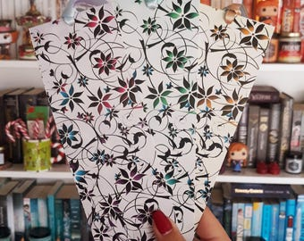 Floral Bookmark with Ribbons