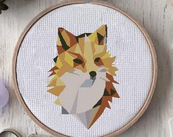 modern cross stitch pattern cross stitch pattern geometric Animals Fox geometric cross stitch pattern cross stitch pattern modern fox stitch