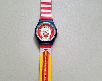 Ronald McDonald wrist watch, vintage original