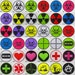 Hazard Symbol/Sign Iron On/ Sew On Embroidered Cloth Patch Badge Appliqué cybergoth cyber punk goth gothic rocker emo rave raver Size: 6.8cm