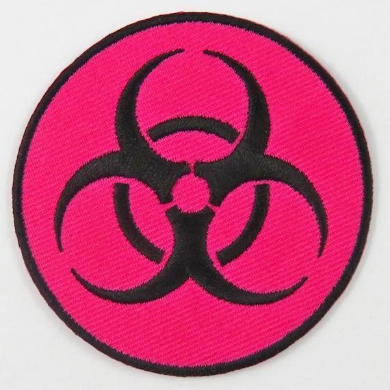 Hazard Sign Iron On// Sew On Cloth Patch Badge Appliqué hot fix stitch UK SELLER