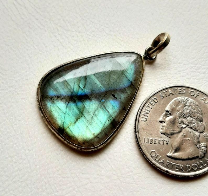 925 Sterling Silver Pendant AAA Labradorite Gemstone Handmade Necklace and Pendant 58947 Labradorite Sterling Silver Pendant