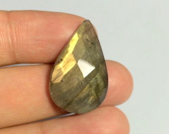 Natural Labradorite Faceted Cabochon, 29x18mm, Rose Cut Cabochon 55297 ,Natural Gemstone Cabochon, Pendant, Wholesale Lot