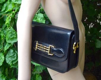 CÉLINE 1970 Black Box Shoulder Bag
