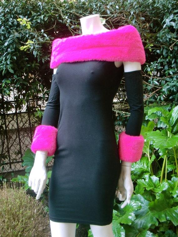 STUPIDISSIMO 1980 Shocking pink False Fur Trimmed