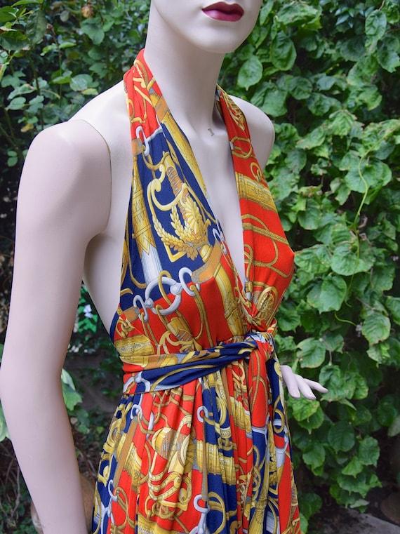 HERMÈS 1970 Silk Jersey Long Dress