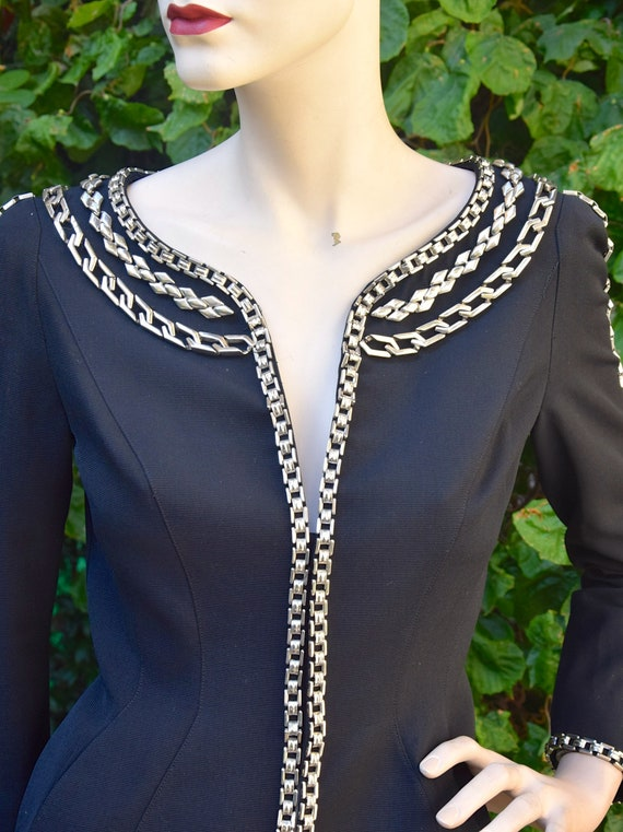 THIERRY MUGLER 1980 Chains Trimmed Jacket