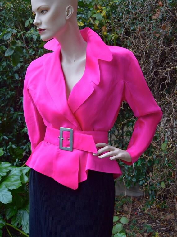 THIERRY MUGLER 1980 Pink Organza  Evening Jacket