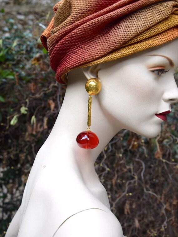 CHRISTIAN LACROIX 1990 Resin Ball Earrings