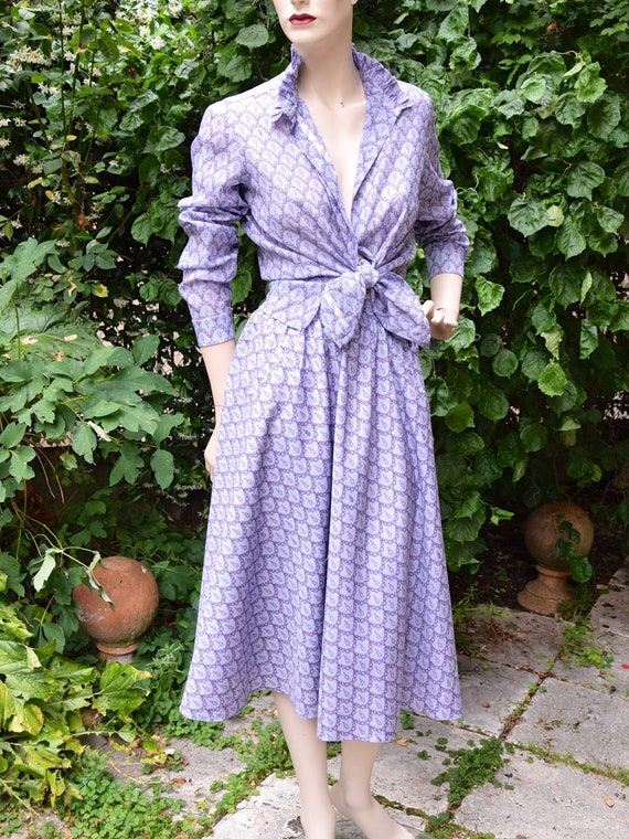 EMILIO PUCCI 1960 Lilac Cotton Set