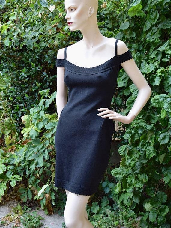 ALAIA 1980 Black Bodycon  Dress