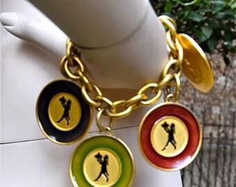 KARL LAGERFELD Enameled Plates Bracelet