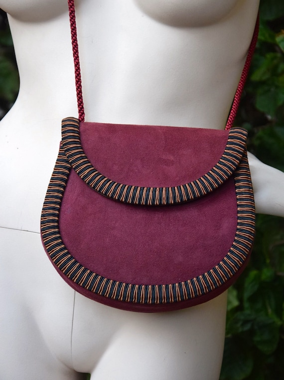 YVES SAINT LAURENT 1970 Suede and Passementerie Cr