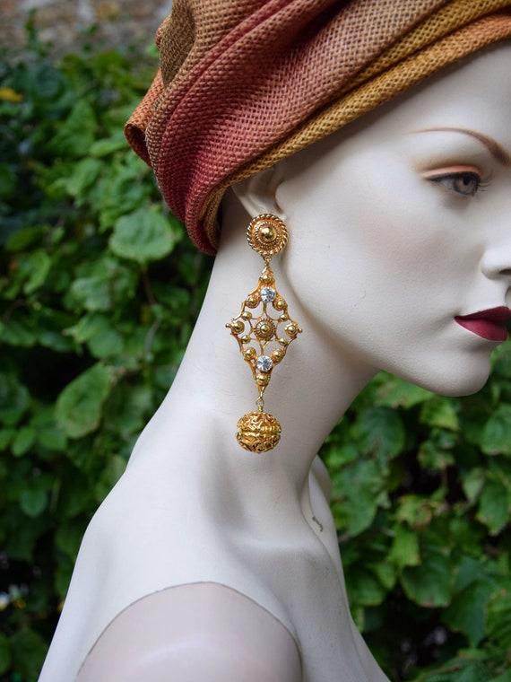 CHRISTIAN DIOR 1990 Baroque Earrings