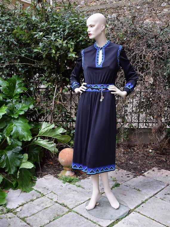LOUIS FERAUD 1970 Russian Style Dress