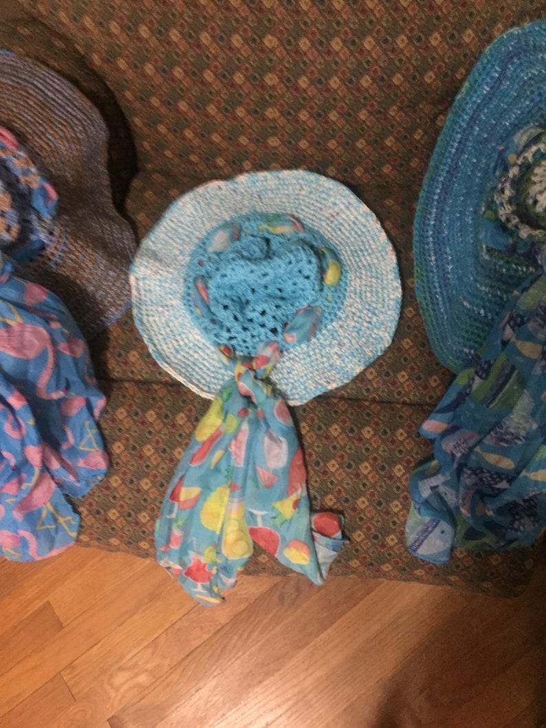 Wide Brim Hat Summer Sun hat Handcrafted Crochet Ladies Sun hat