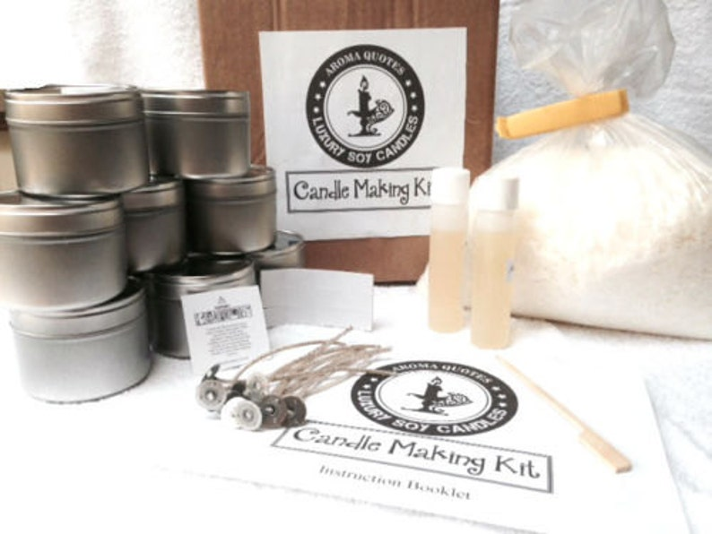 Soy Candle Making Kits Makes 10 Candle tins FREE wax melts with every  purchase
