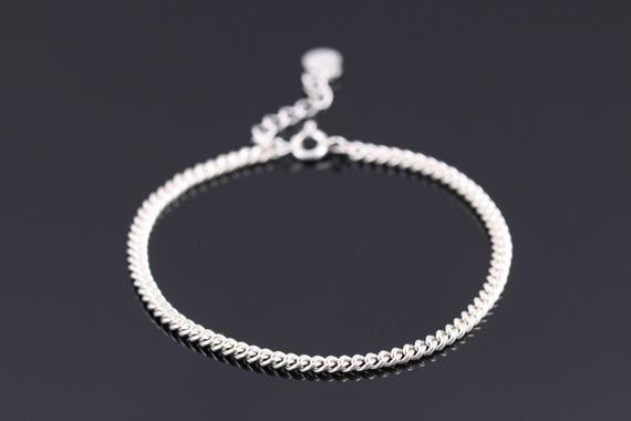 cdd99756a6949 Thin Silver Chain Bracelet Thin Silver Bracelet Dainty