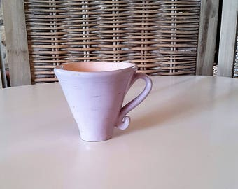 Ceramic, gift for MOM, purple Cup, coffee cup, Cup hand made ceramic