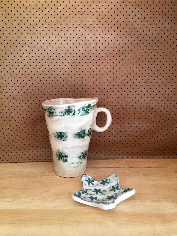 Xxl Tapered Mug With PotProvence Tea CupGlass Ceramic MugLarge Handmade HanseArtisan Pencil orxdCeBW