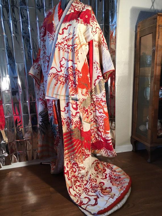 Antique furisode kimono