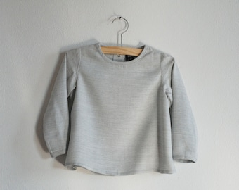 Top grey for baby 100%modal