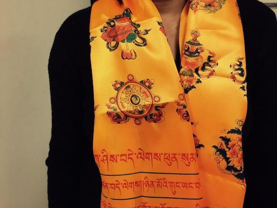 d1fd7f98e10 KHADA Tibetan Ceremonial Scarf Functional scarf scarf
