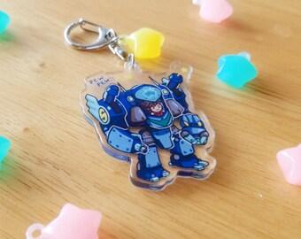 Toy mecha battle time! keychain