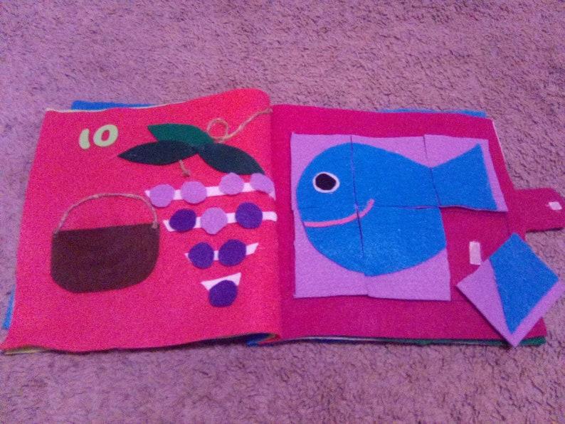 Felt quiet book zoo animals b