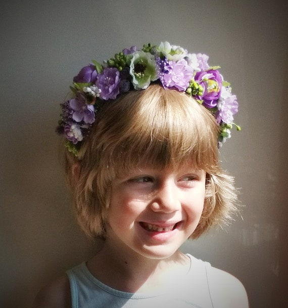 Yellow Rose Flower Headband Hair Crown Festival Garland Hair Band Boho Vintage 5633