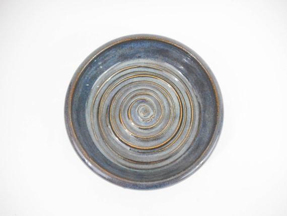 Kitchenware Blue Stoneware Ceramic Garlic Grater Bowl Hand Painted B0176 Hand Thrown Tableware Handmade Pottery