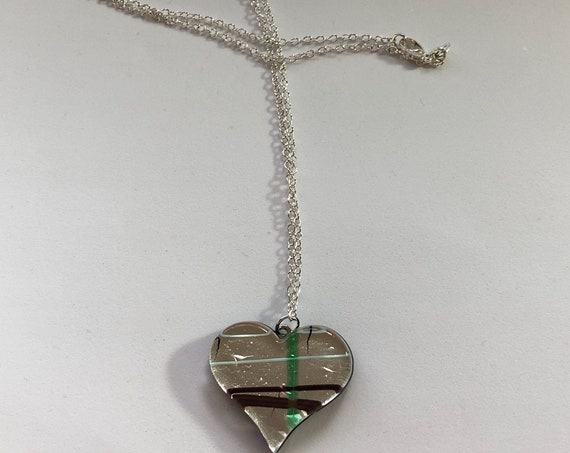 Murano Glass Heart Necklace Sterling Silver Chain 24inch Women Gift Teacher Gifts Free   Ship Necklace Glass Pendant Graduation Gift